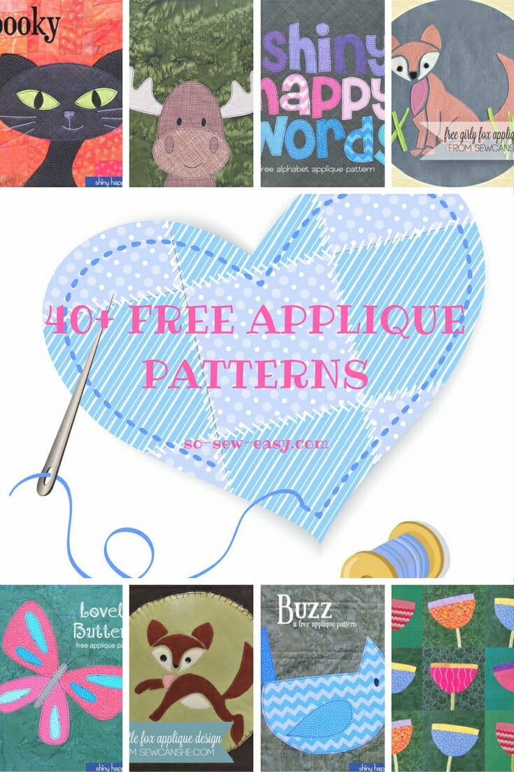 photo relating to Free Printable Flower Applique Patterns known as 40+ Free of charge Applique Routines: Programs for All Situations - Thus
