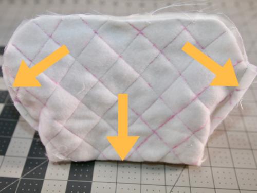 square metal purse frame pattern