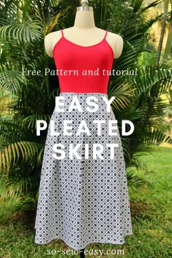 easy pleated skirt pattern