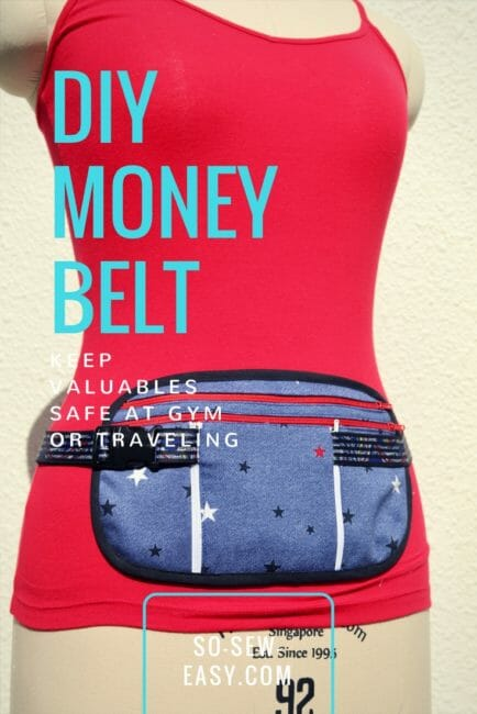 Running Belt, Travel Belt or Money Belt with Pouch- FREE Pattern & Tutorial