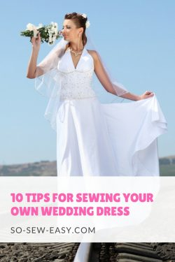 sewing your own wedding dress
