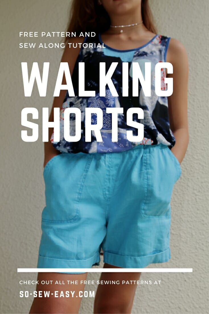 walking shorts pattern