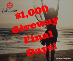 Giveaway Final days
