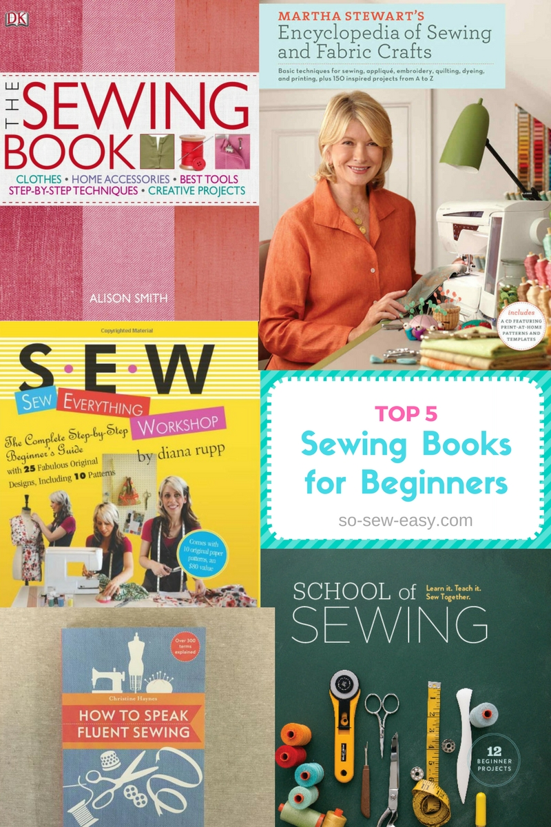 top 5 sewing books for beginners