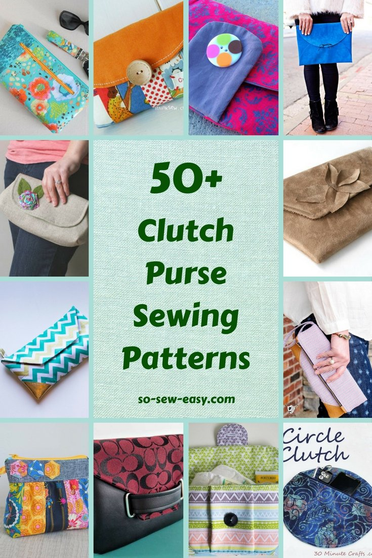 Free clutch sewing pattern gallery craft decoration ideas 50 free clutch purse sewing patterns so sew easy clutch purse sewing patterns jeuxipadfo gallery jeuxipadfo Gallery