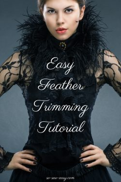 Easy Feather Trimming Tutorial