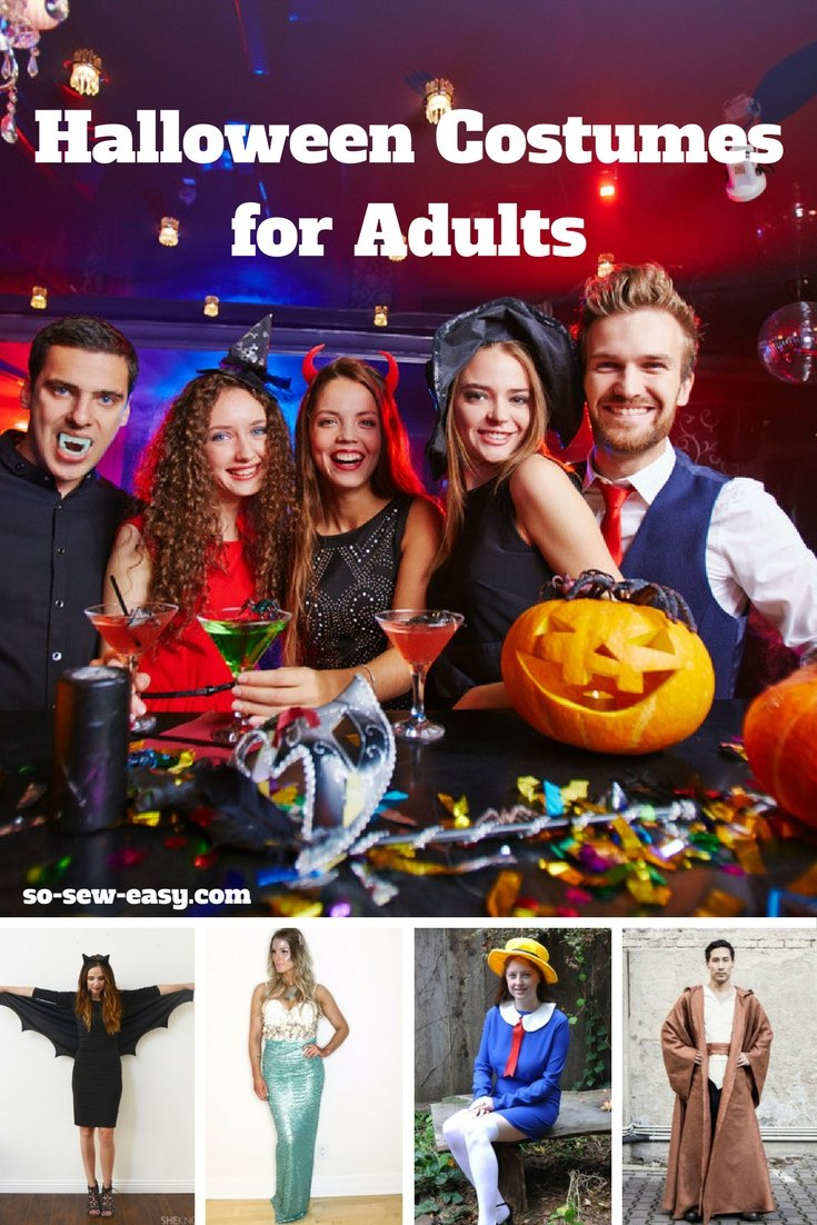 Halloween Costumes for Adults  sc 1 st  So Sew Easy & Halloween Costumes for Adults: 15 FREE Sewing Patterns - So Sew Easy