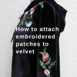 attach embroidered patches