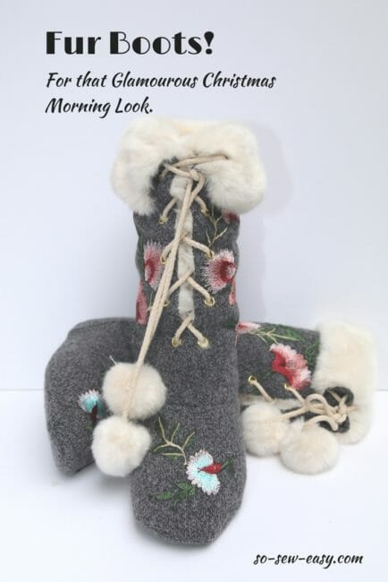 Fur Boots! For the Glamourous Christmas Morning Look.