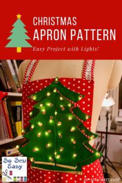 Christmas apron pattern