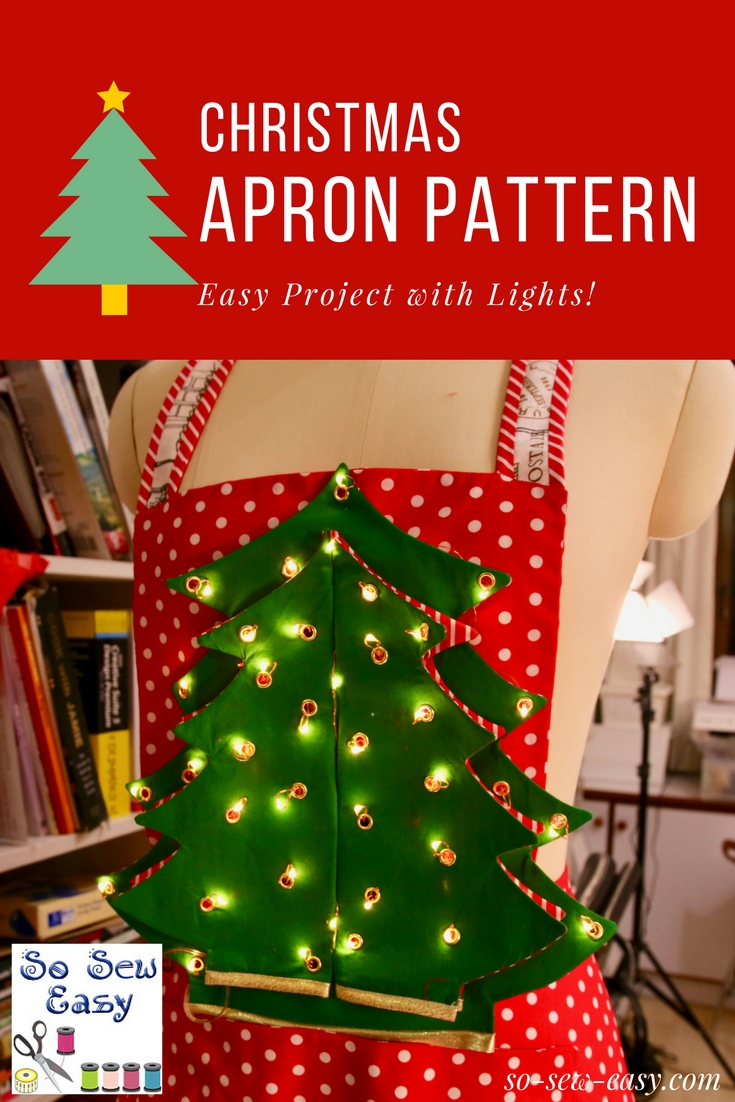 Christmas stockings patterns simple and super so sew easy christmas apron pattern jeuxipadfo Gallery