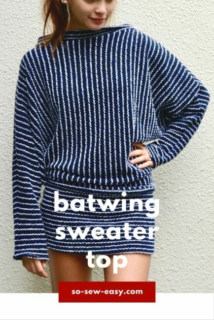 Batwing Sweater Top FREE Pattern – Cosy Outfit For Winter