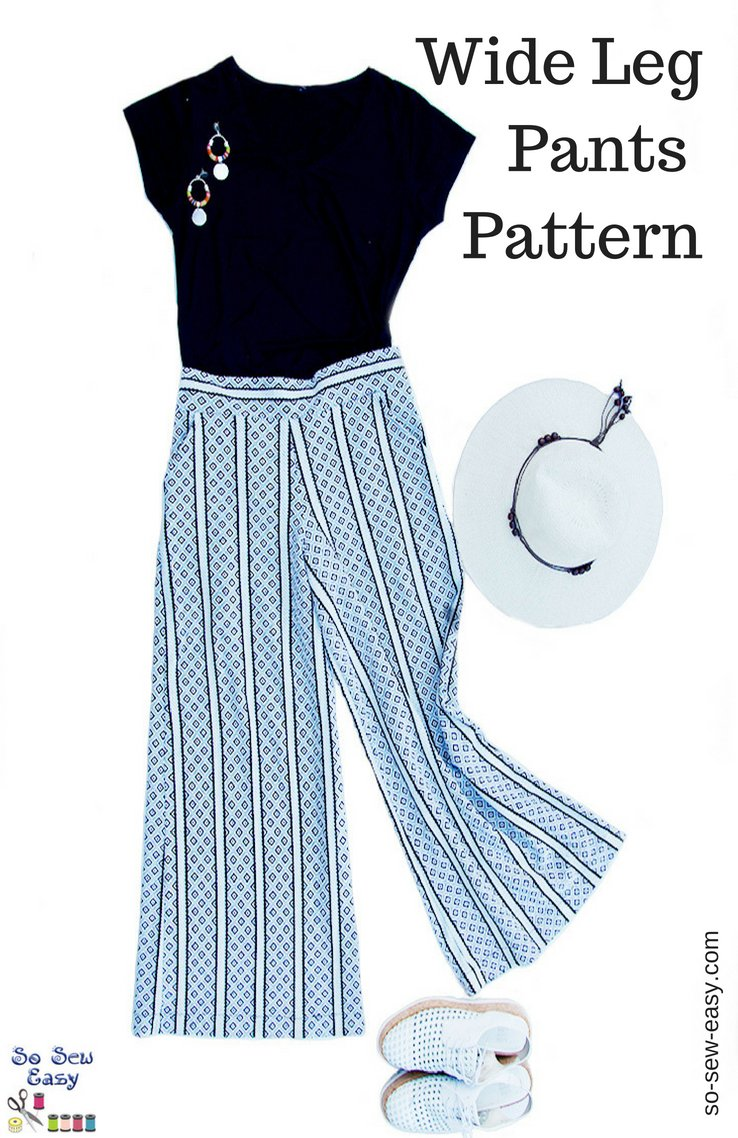 Wide Leg Pants Pattern How To Elongate Your Figure So Sew Easy
