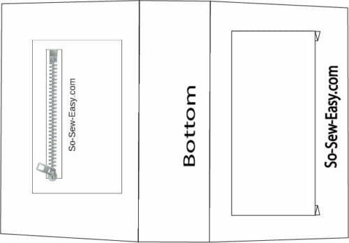 placemat clutch bag