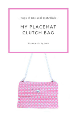 placemat clutch bag