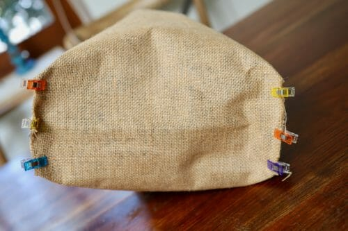 burlap shopping bag