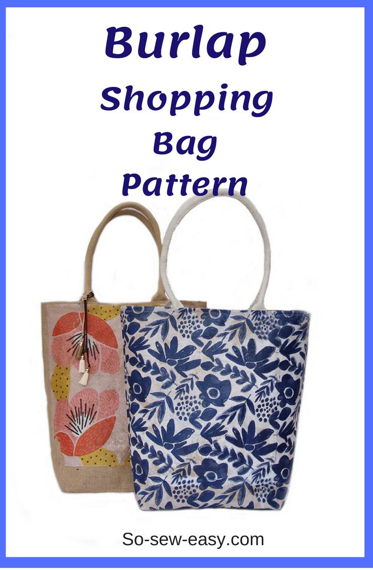 burlap shopping bag pattern
