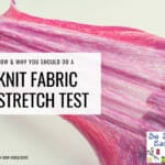 knit fabric stretch test