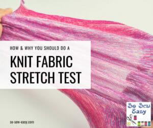 knit fabric stretch test