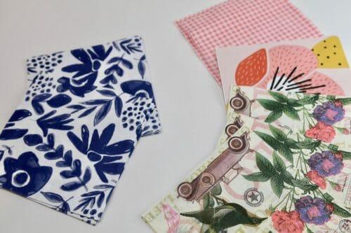 paper napkin decoupage