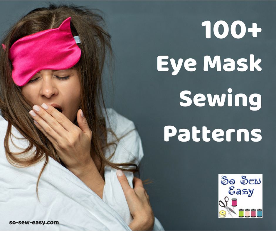 eye mask sewing pattern