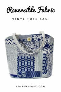 Reversible Fabric Vinyl Tote