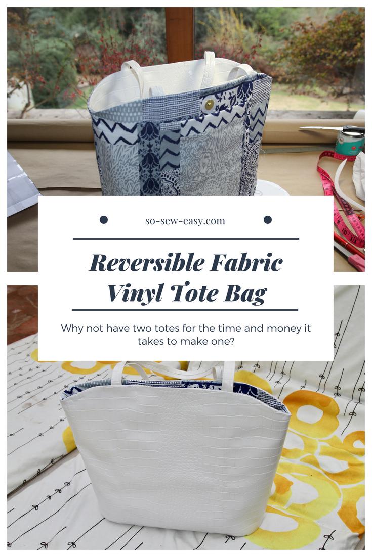 Reversible Fabric Vinyl Tote