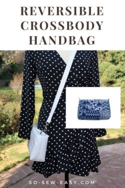 reversible crossbody handbag