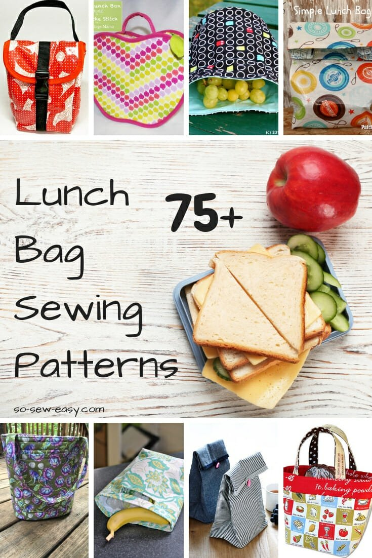 Lunch Bag Sewing Patterns: Ready for Back To School? - So Sew Easy