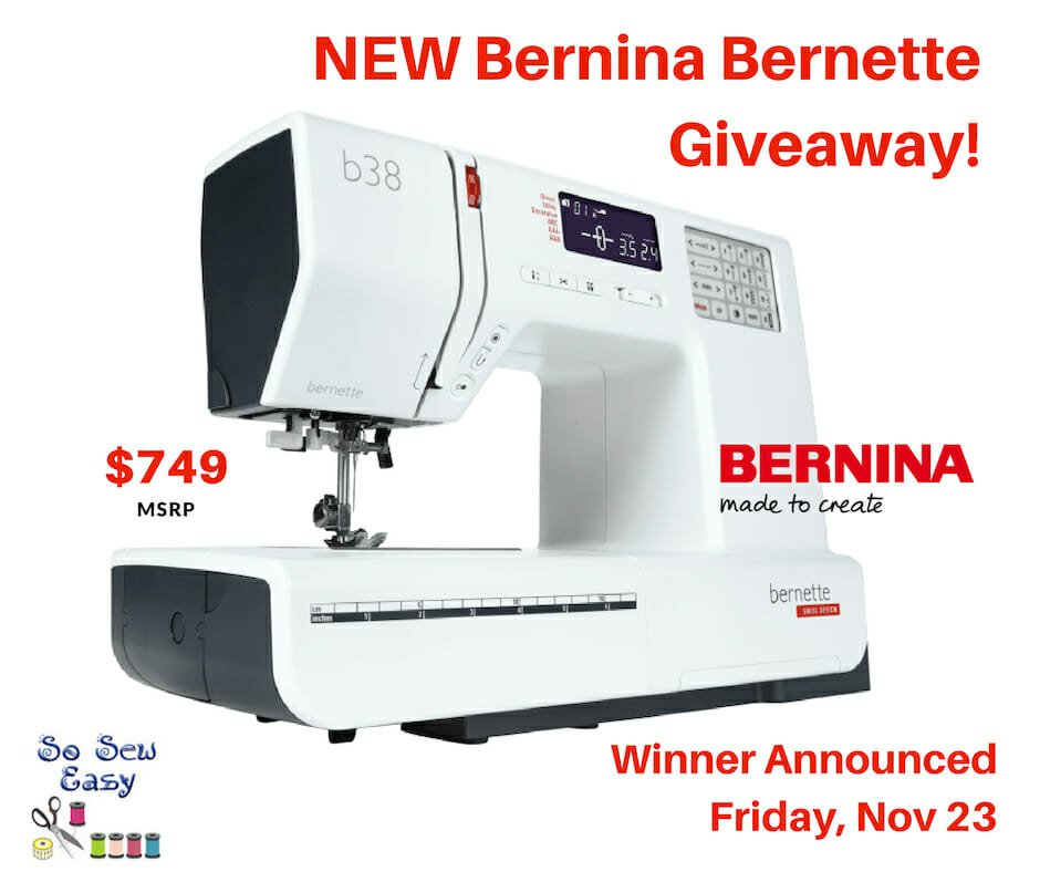 NEW Bernina Bernette B40 Giveaway 40 MSRP So Sew Easy Extraordinary Bernina Sewing Machine Amazon
