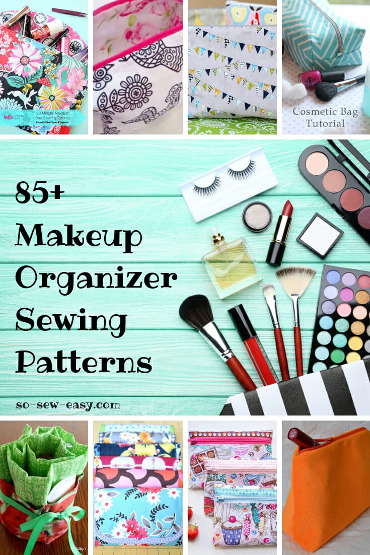 Makeup Organizer Sewing Patterns Roundup  85+ FREE Patterns - So Sew ... c16460e164440