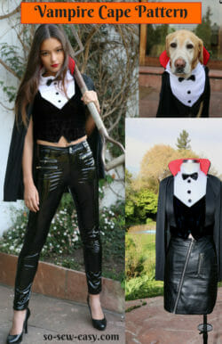 vampire cape pattern