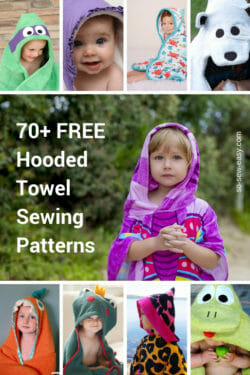 hooded towel patterns