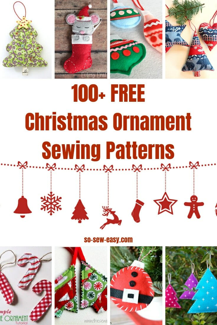 Christmas Free Images.100 Free Christmas Ornament Sewing Patterns So Sew Easy