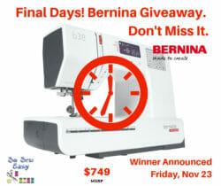 Bernina Giveaway