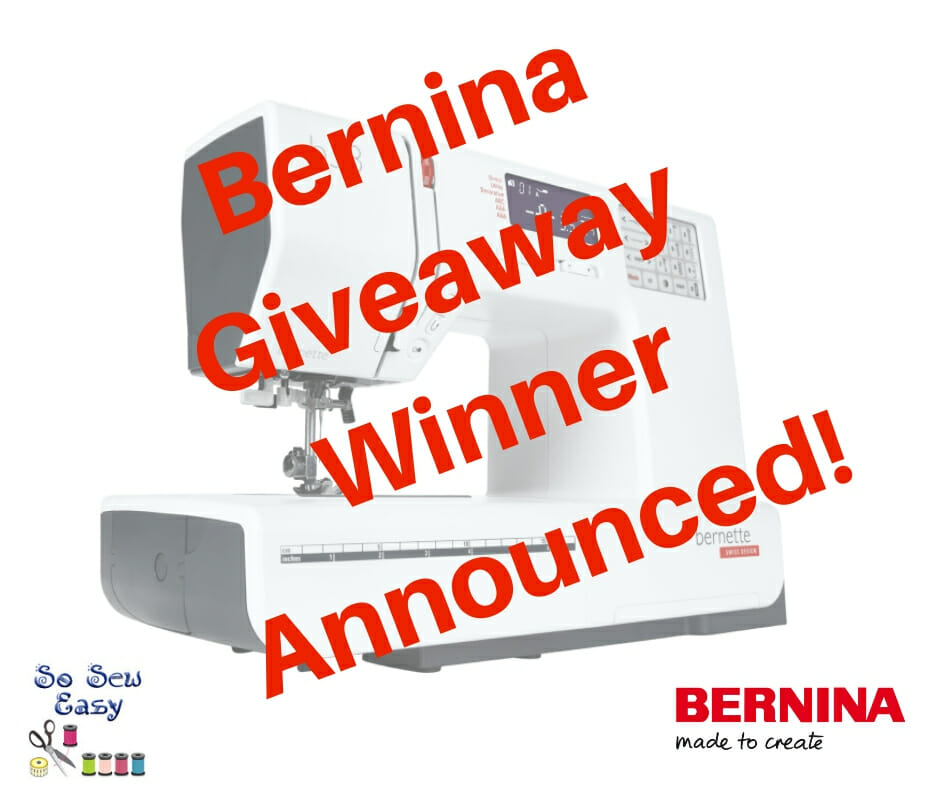 Bernina Sewing Machine Giveaway