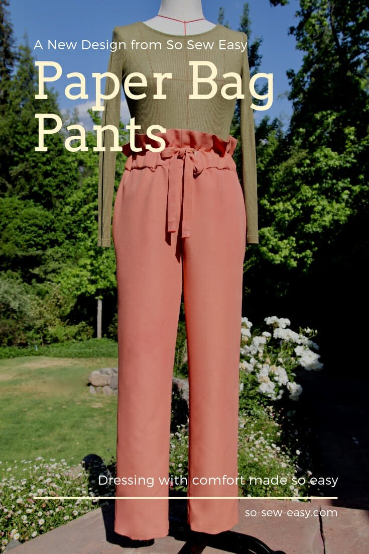 paper bag pants pattern