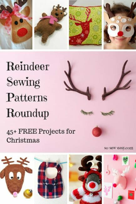 Reindeer sewing patterns