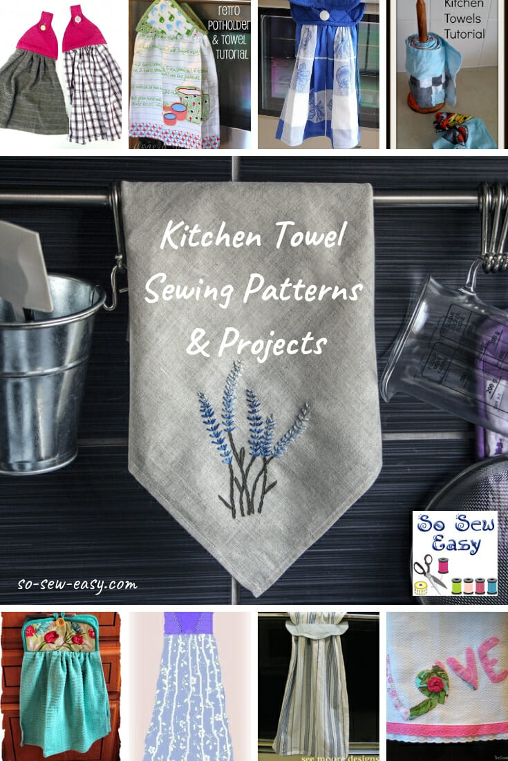 Hanging kitchen towels pattern and tutorial.