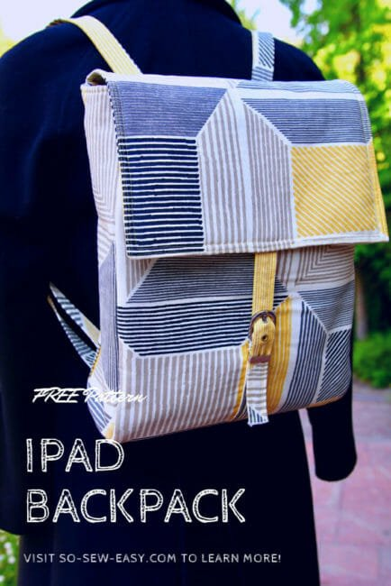 Easy iPad Backpack Pattern & Tutorial