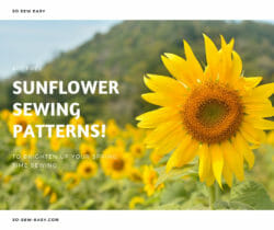 sunflower sewing patterns