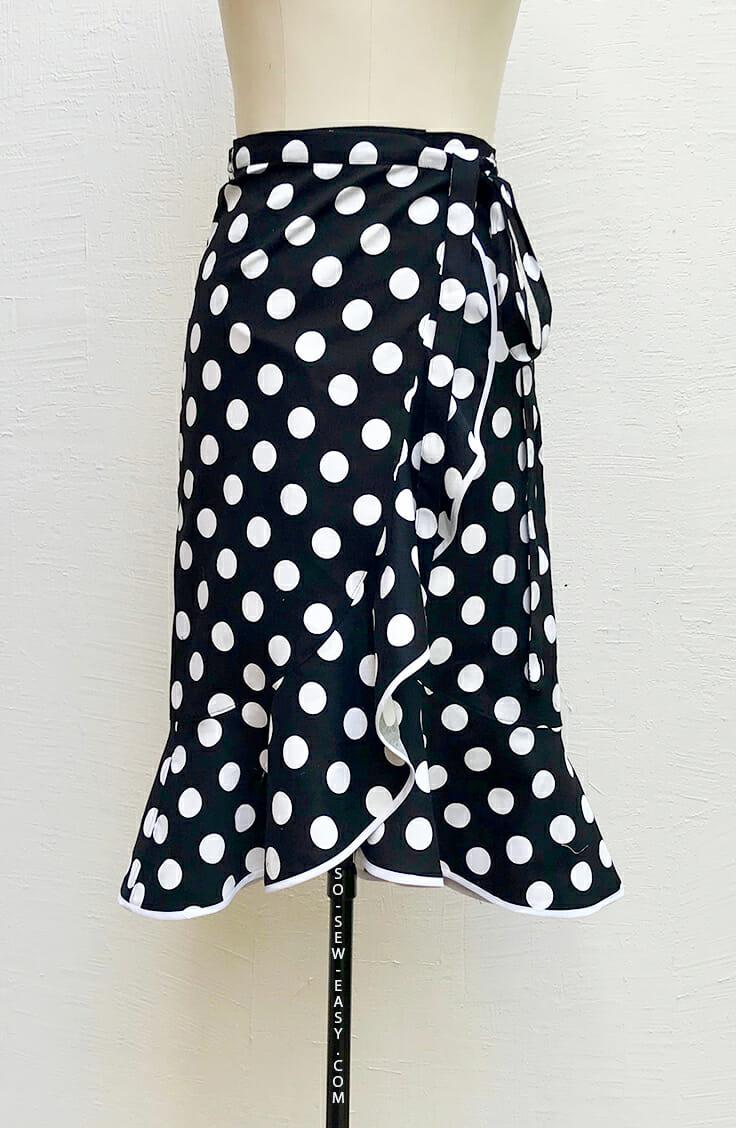 Flounce wrap skirt pattern