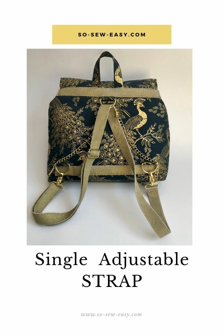 single adjustable strap