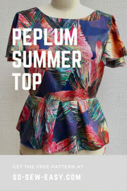 peplum summer top