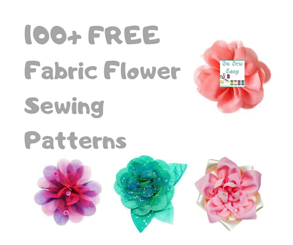 fabric flower sewing patterns