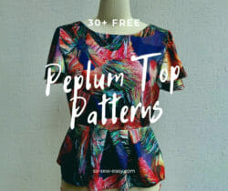 peplum top sewing patterns