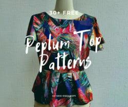 peplum top sewing patterns