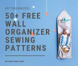 wall organizer sewing patterns
