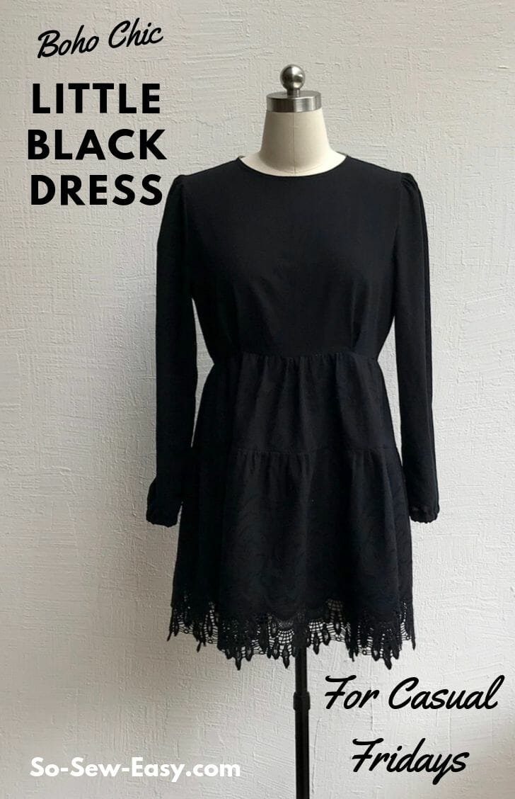 Boho Chic Black Dress Pattern