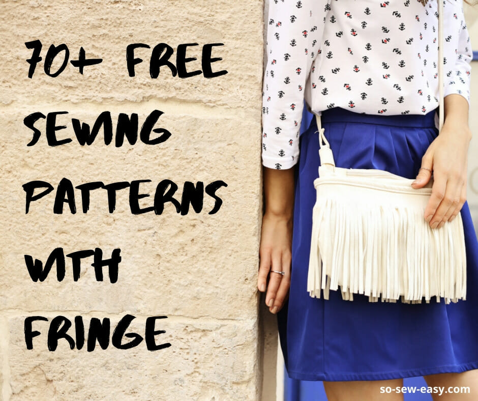 sewing patterns with fringe